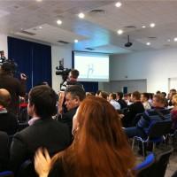 Зал на Инфоконференции 2012 полон