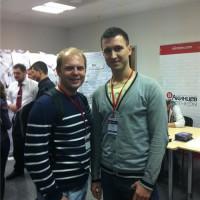 Я с Сергеем Жуковским на Инфоконференции 2012
