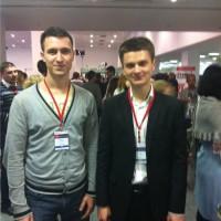 Я с Александром Писаревым на Инфоконференции 2012