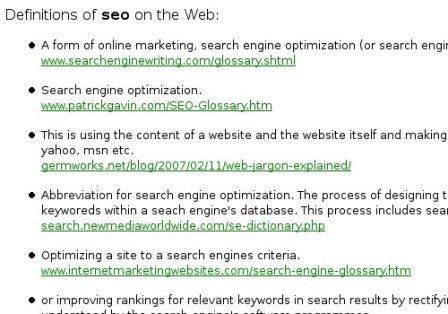 11 рекомендаций по попаданию в выдачу Google'а по определениям